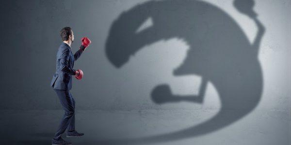 Man vecht tegen angst